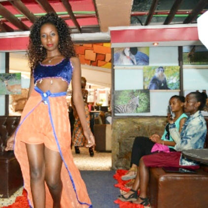 Fotophreak Model of the week: Kendi rocking beach wear during the Dacaet fashion show at T Mall.