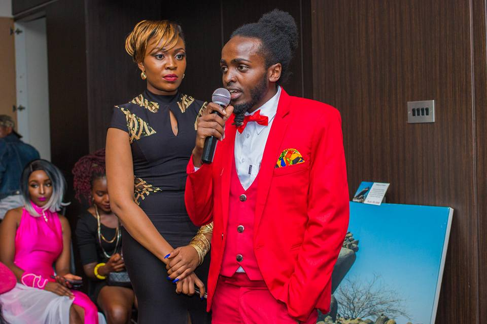Mtindo Afrika 2017: Host Linda with 2016 hair stylist of the year Dgohnie Hair Arts during the event COURTESY: @poweroflens photography