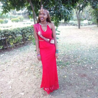 Miss Congeniality winner University of Nairobi Chiromo Campus 2017 - Shauline Thuo