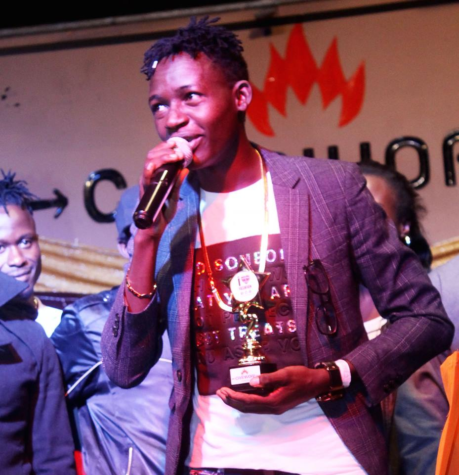 Mahujaa Awards 2017: MCA Tricky receiving the Comedian of the Year Award