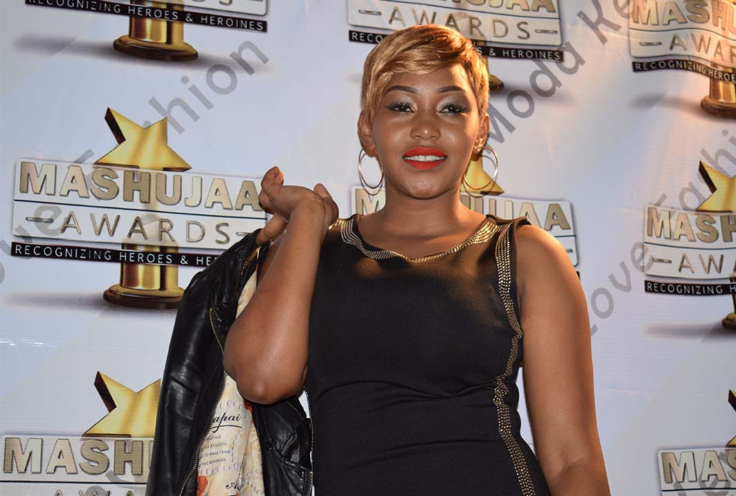 Red carpet moment for judge Evelyn at the Mashujaa Awards 2017