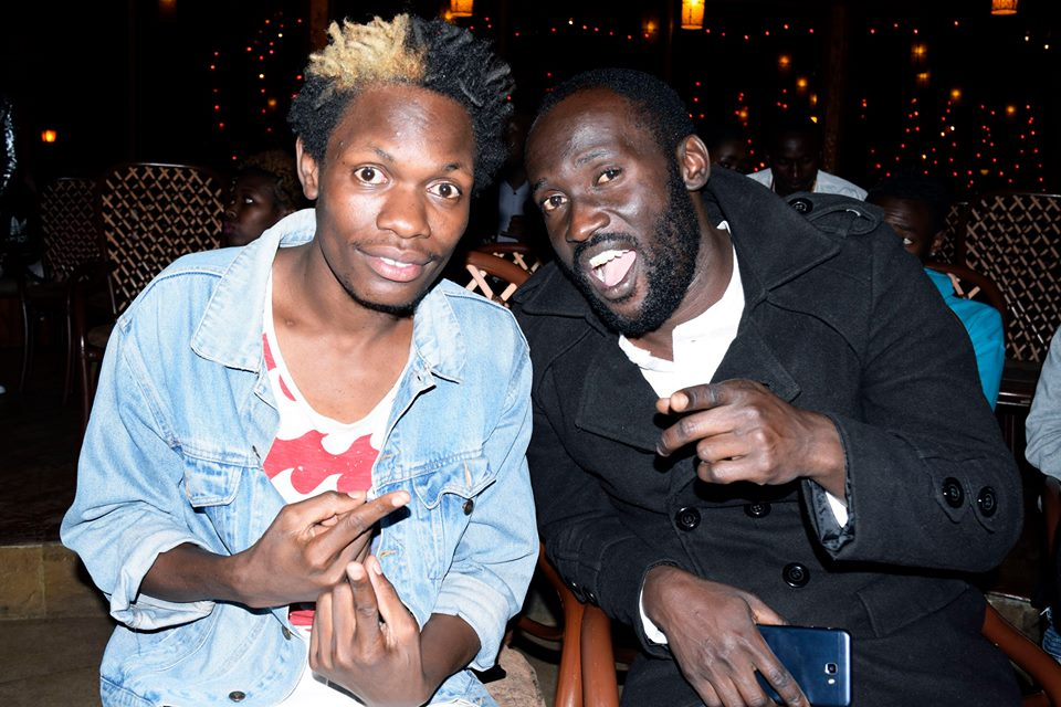 Mahujaa Awards 2017: Comedian 2mbili and The Real Househelps of Kawangware actor Dj Shiti at the event