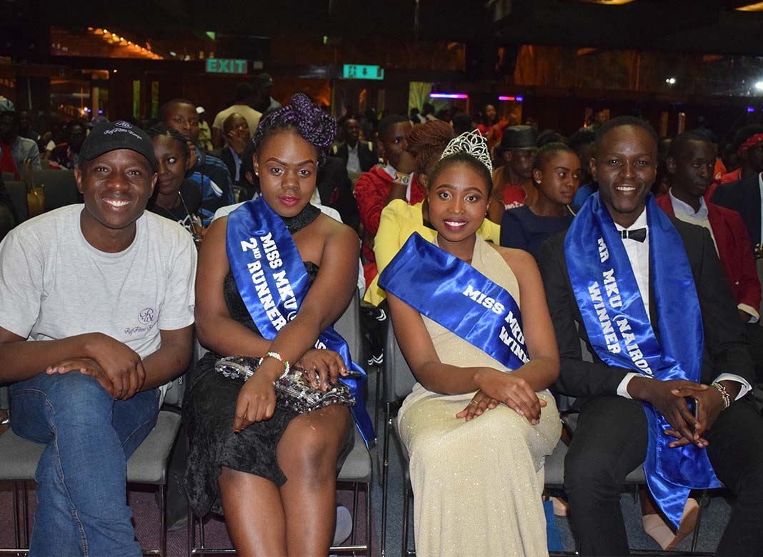 Mr & Miss Mount Kenya University 2017: Former lifters of this award were also present and following keenly.