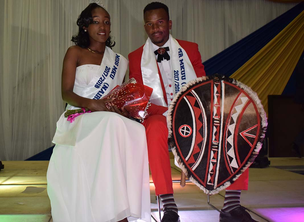 Mr & Miss Mount Kenya University 2017: Ann Njoroge and Michael Eliud are the newly crowned winners