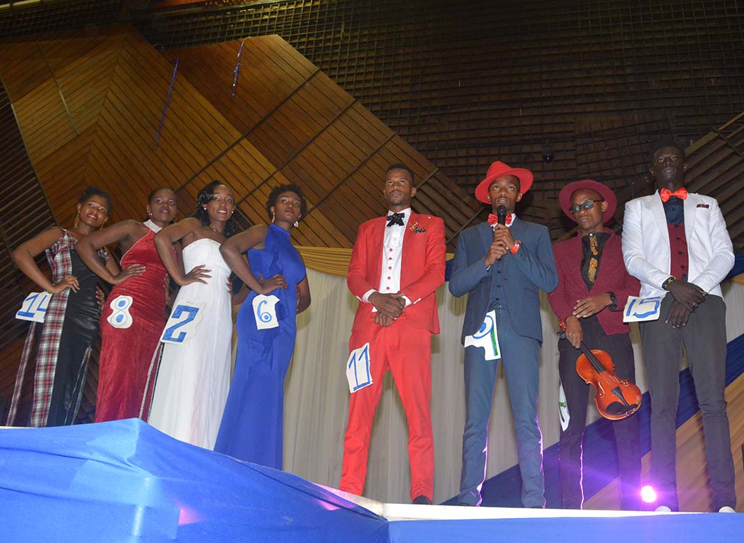 Mr & Miss Mount Kenya University 2017: The finalists during the question and answer session