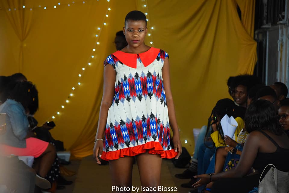 A runway model showcasing a design during the Fashion Couture Affair on the 9th of December last year
