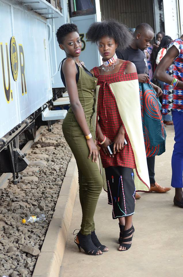 The Face of Nivea 2017/2018 and model Celly Rue Brown (left) at the Fashion Couture Affair 2017