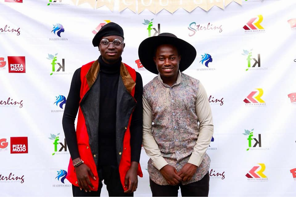 The Fashion Couture Affair co-fpunders Silas Omenda (left) and Byron Oreyob at the event