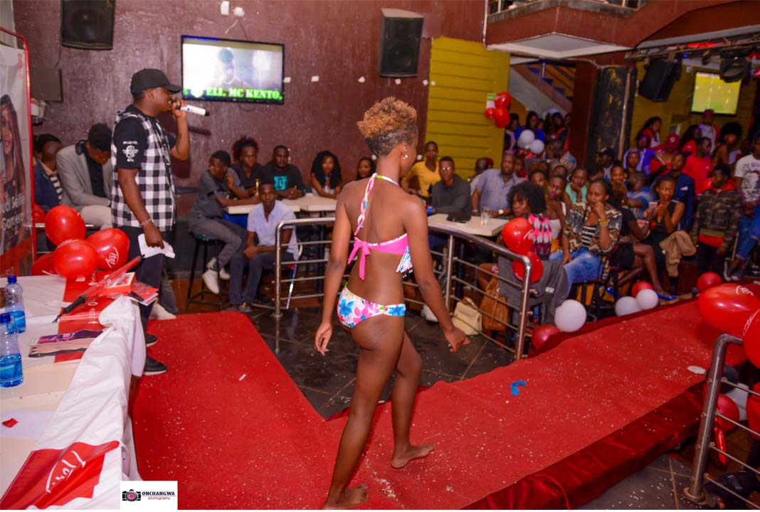 The Bikini Category at Miss Face of Universities Eldoret 2018