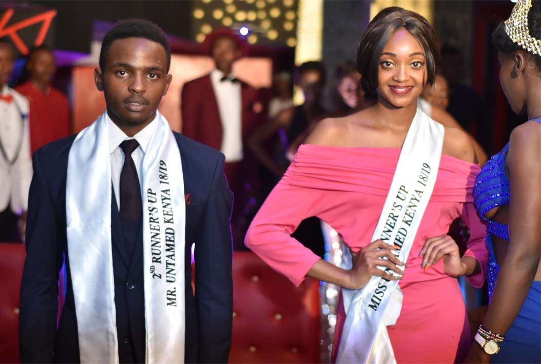 Second runners up at the Mr and Miss Untamed Kenya 2018 - Alvin Maina and Lydia Nyabuti
