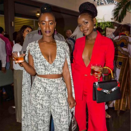 Fashion High Tea 2018: Social Media personalities Miss Mandii (left) with Sheila Ndinda at the event.