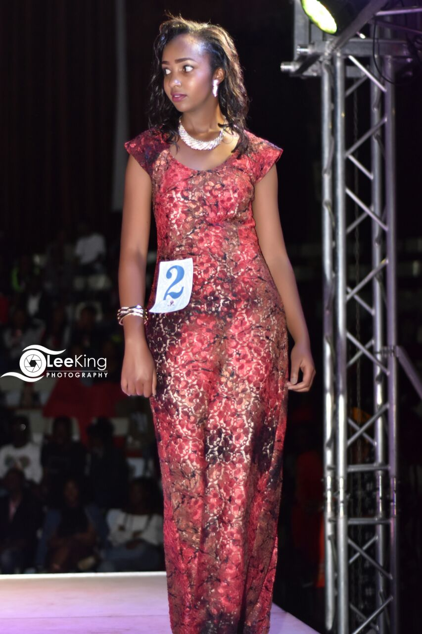 Mr and Miss MMU 2018: First runners up Lashandra Njihia on the runway during the dinner category of the competition