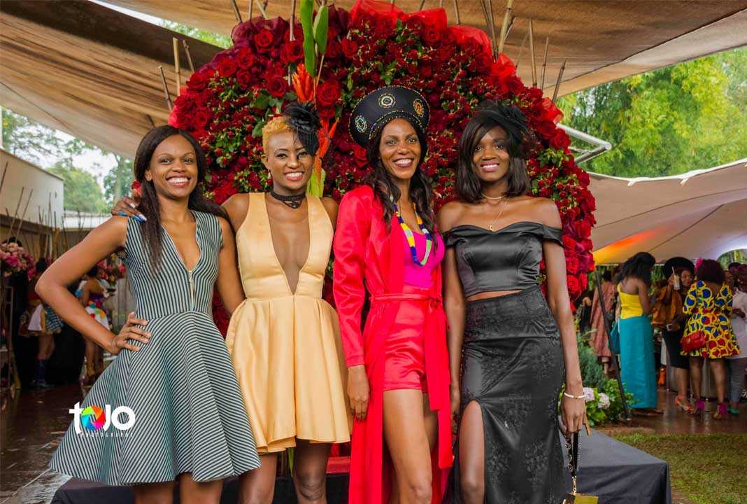 Fashion High Tea 2018: Ladies looking all glam at the Fashion High Tea 2018: Flowers courtesy of Subati