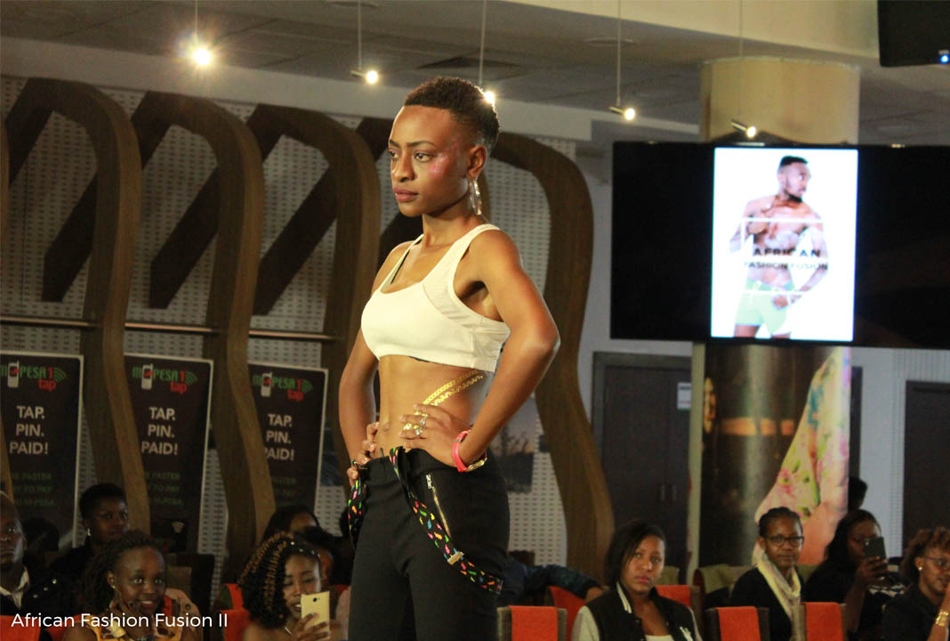 Professional runway model Maureen Faith on the runway at the 2nd Edition of the African Fashion Fusion last year.