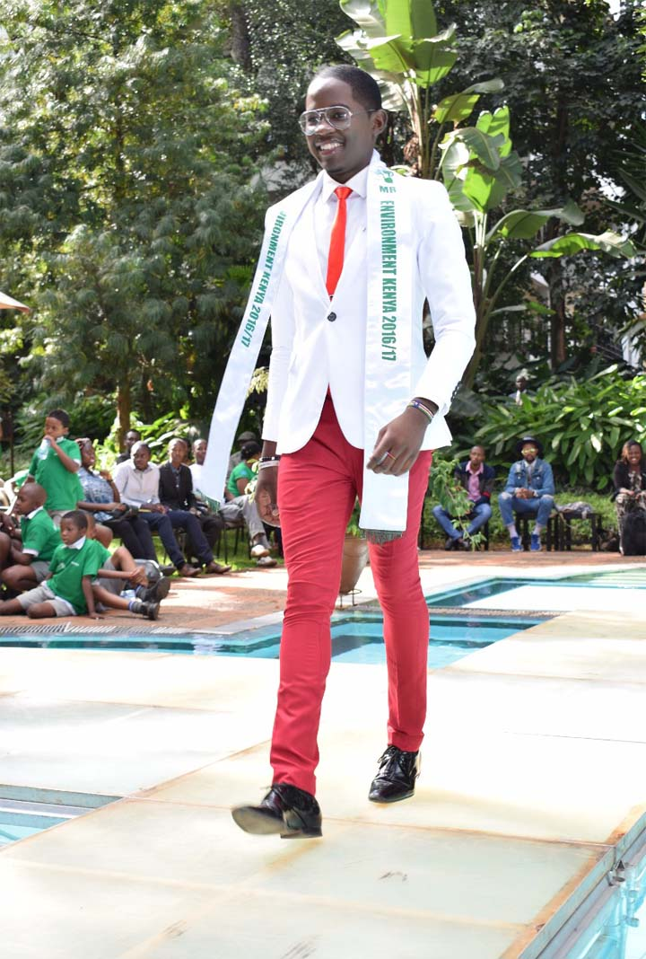 Pictured: Edward Karaba Dondo during one of his heydays as a runway model