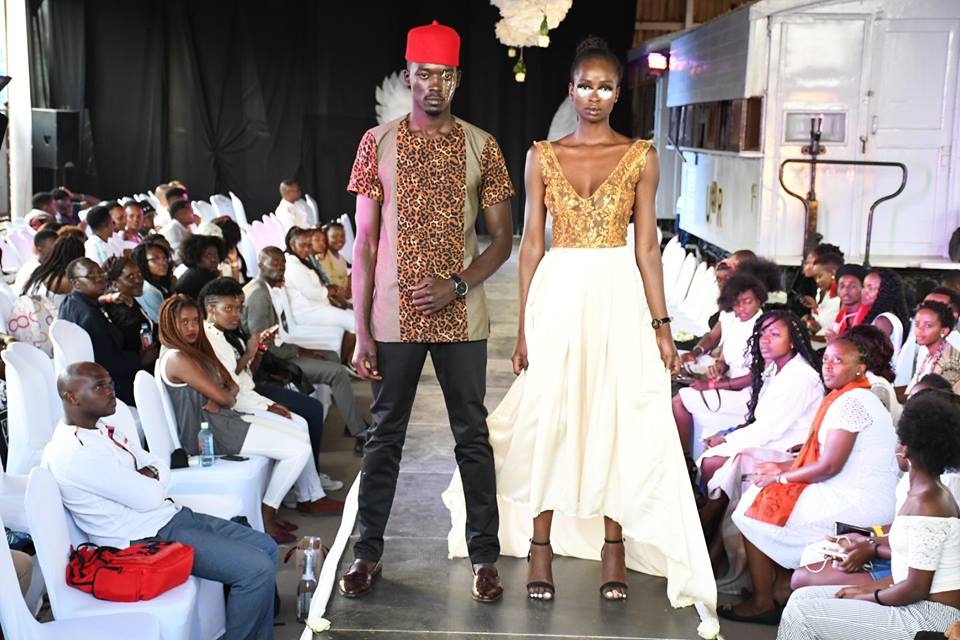 Fashion Model Felix Anganga - Left; On the runway during the 4th Edition of the Fashion Couture Affair