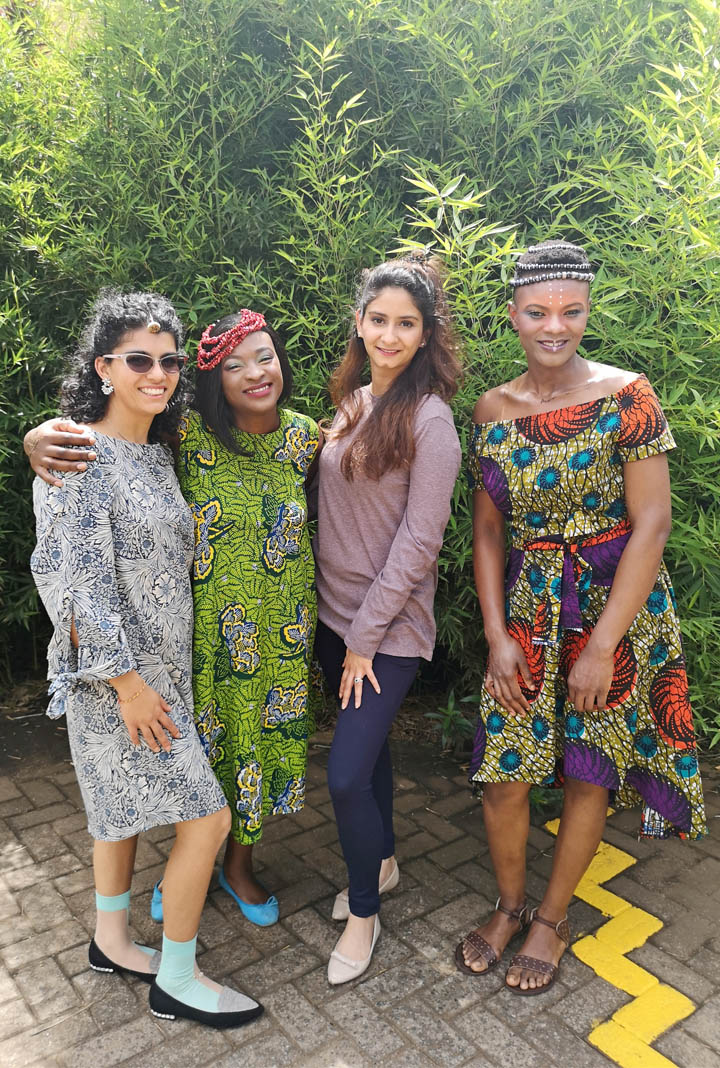 "The beautiful team behind the ""Henna has no borders"" campaign. Photography by Mandeep Dhadialla"