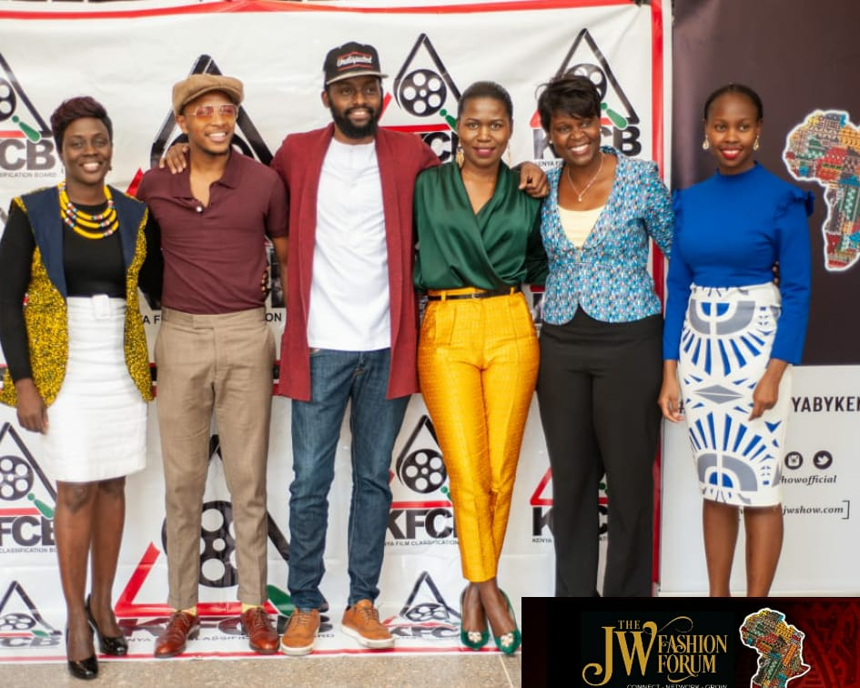 Panelists and guests at the The JW Show Fashion Forum 2019 at the Nairobi Film Center