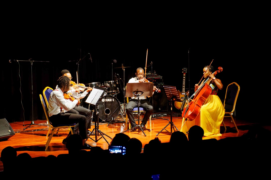The Nairobi String Quartet were down to business at the all sold out musical orchestra in Nairobi