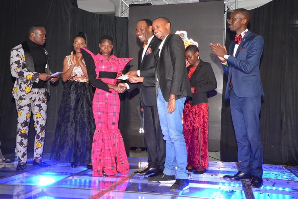 Julia Achieng from Delight Institute of Fashion & Design was awarded winner of this year's event