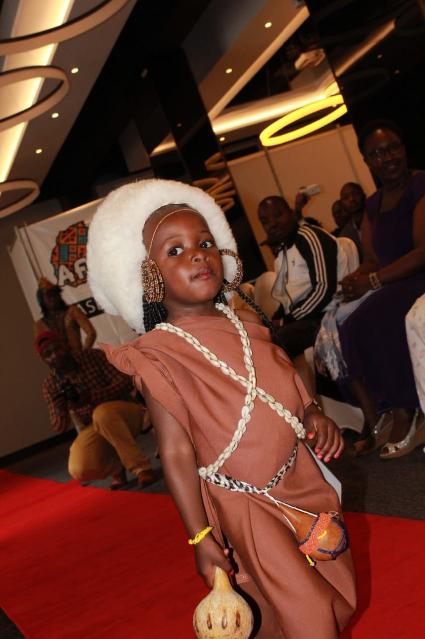 A model showing her prowess on the runway at the Amazing Little stars competition 2019
