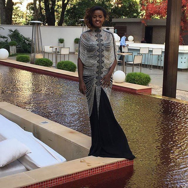 TV Personality Amina Abdi Rabar at a previous shoot rocking jewellery by Patricia Mbela