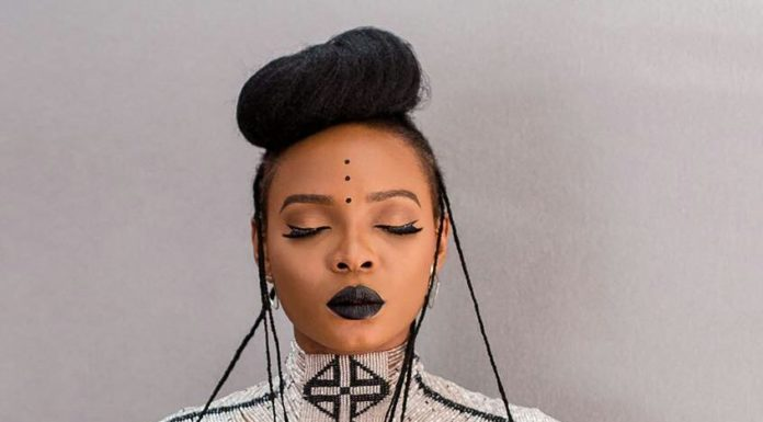 Nigerian Singer Yemi Alade drapped in jewellery by Patricia Mbela during Coke Studio Africa